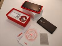 OnePlus 3T 128GB Gunmetal Smartphone As-New Condition, original packaging, accessories + Case