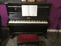 Upright Piano and Stool
