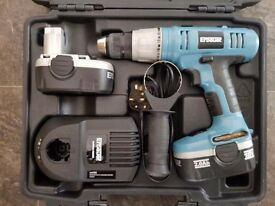 18v Erbauer combi drill - hammer action / driver