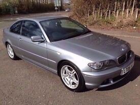 1 PREVIOUS OWNER* 06* E46 320D COUPE* 6 SPEED* DIESEL* YEARS MOT *50MPG F.S.H Great Car!