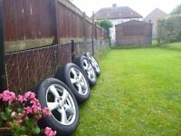 "Honda genuine 16"" alloy wheels with winter tyres."