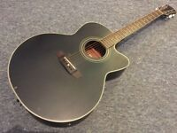 Freshman FA-300JBK Jumbo Electro-Acoustic + Case