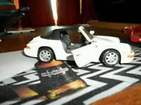 "NO TEXTS PLEASE ""CORGI"" PORSCHE V24 911 CARRERA 4, WHITE (7.5 in) £8."