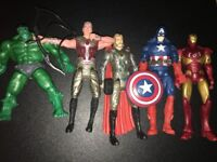 brand new job lot of marvel action figures