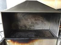 Charcoal grill, electric grill & food display