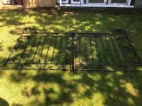 Old driveway gates. Wrought iron.