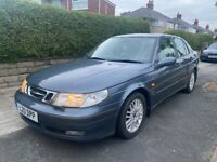 1999 SAAB 9-5 3.0 V6 TURBO CLASSIC CAR VERY RARE WILL HAVE 12 MONTHS MOT