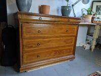 Sturdy antique chest of drawers