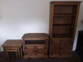 Antique pine furniture set