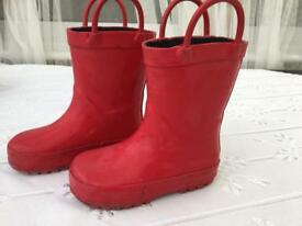 Mothercare Red Wellington boots size 5