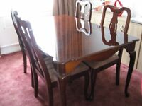 Dining table and chairs plus console table