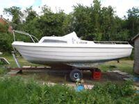 Sea Hawk sailing boat cruiser yacht trailer sailor project