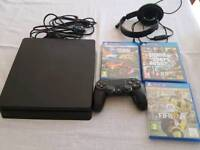 Ps4 with three games