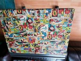 MARVEL AVENGERS DECOUPAGE SHABBY CHIC GREY DESK WITH LID
