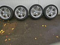 BMW MSport 18inch alloy wheels. All 4 tyres like NEW.