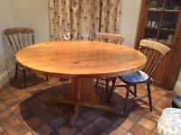 Solid Pine Dining / Kitchen Table
