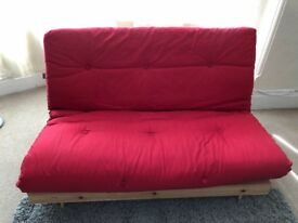 Red futon for sale - £50 - central London