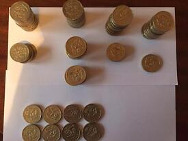 Royal Floral Emblems of England, Wales, Northern Ireland & Scotland £1 Pound Coins