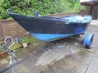 16ft bass boat & trailer