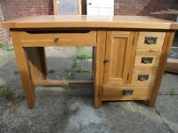 Solid Oak Computer Desk