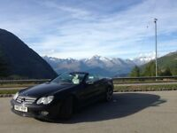 Black Mercedes SL350 Convertible with full service history and many optional extras
