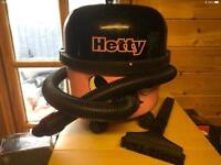 HETTY NUMATIC HOOVER. INCLUDES PIPE & ATTACHMENTS