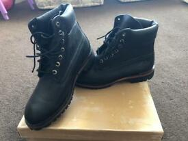 Black Leather Timberland Boot