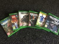 Xbox one games- SOLD