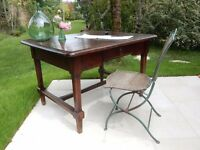 Beautiful Original French Antique Oak Writing Desk / Writing Table / Library Table from SW France