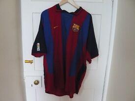 FC BARCELONA 2003/04 FOOTBALL SHIRT XXL