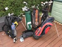 Job lot golf clubs and bags