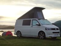 Low mileage 2010 VW Transporter Campervan. Poptop, 4 berth, professional conversion.