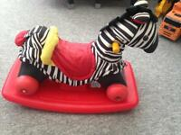 Little tikes rocking/ push zebra
