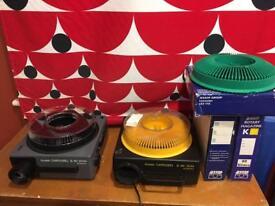 Kodak slide projectors.