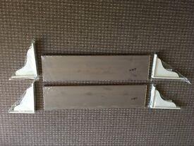 Ikea shelves and brackets