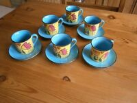 EXPRESSO CUPS AND SAUCERS SET MADE BY WHITTARD OF CHELSEA