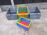 4 Fold away box's all in good used condition