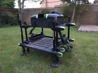 Maver Mxi 301es Fishing Seatbox with barrow arms/wheels