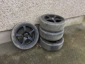 """alloy wheels 16"""" with good tyres"""