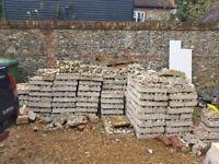 Flint block for building flint walls to make building flint walls quicker and easier