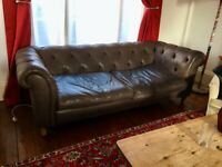 Large Leather Chesterfield Sofa
