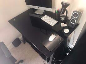 Desk - Black Glass