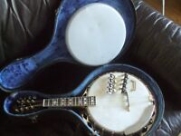 Vintage Gibson Banjo Mandolin with case
