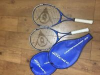 PAIR OF DUNLOP SPORT TENNIS RACKETS