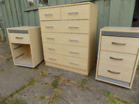 Bedroom furniture drawers and bedside cabinets