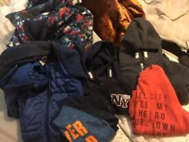 Boys winter clothing bundle including coats 5-6
