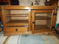(Oak) Sollid Wood TV Unit.