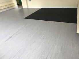 Vinyl and carpet fitting