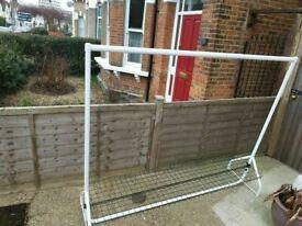 morplan gurmenti Heavy Duty white Clothes Rail Shelf and Wire Shelf very good condition