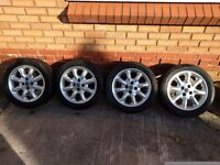 MG TF Set of Wheels & Tyres 15""